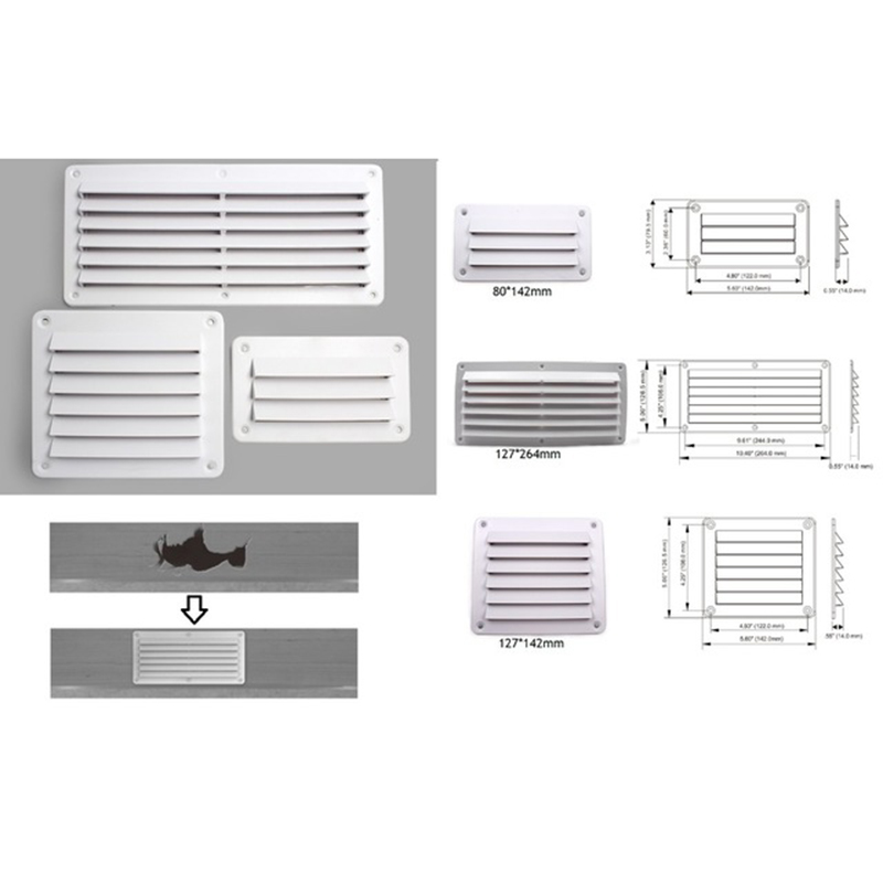 Plastic Air Vent Ventilator Grille Cover RV Wall Mount