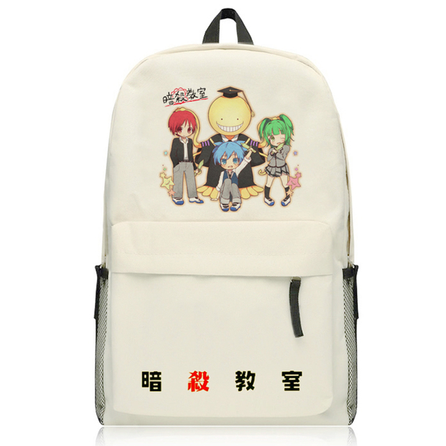 Anime Assassination Classroom Backpack Boys Girl Shoulders Bag Student Books Canvas Package Women Mochila Rucksack