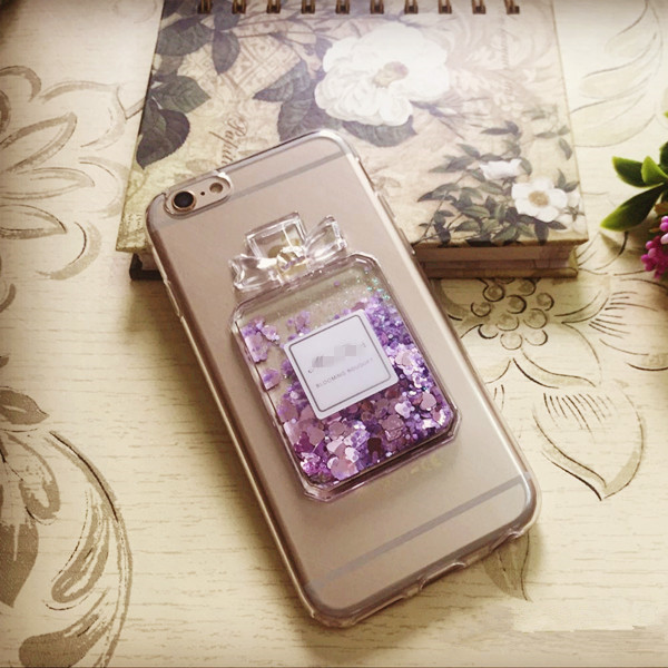 Flowing Sand Bling Sparks Glitter Perfume Bottle Cases For