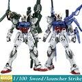 Momoko GAT-X105 modelo Gundam semente MG espada / lançador greve Gundam ver. Rm 1/100 modelo montado brinquedos figura de ação Anime