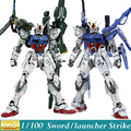 Momoko Model Gundam Seed MG GAT-X105 Sword / Launcher Strike Gundam Ver. RM 1/100 Scale Action Figure Model Assembled Toys Anime