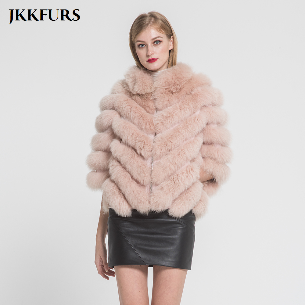 New Women s Winter Fur Jacket Real Fox Fur Coat Spring Warm Fashion Style 100 Natural