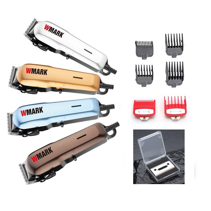 WMARK Berufs Wired Haar Trimmer 6000-6500rm DC motor Sharp und licht kostenloser blade set mit 6 größe guide kamm NG-555