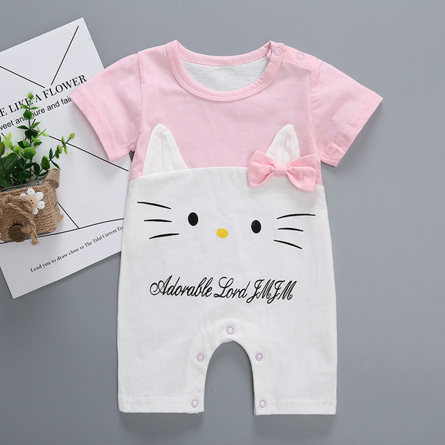 ac02a331e454 Fashion Cartoon Newborn Baby Rompers Cotton Baby Boy girls Clothes ...