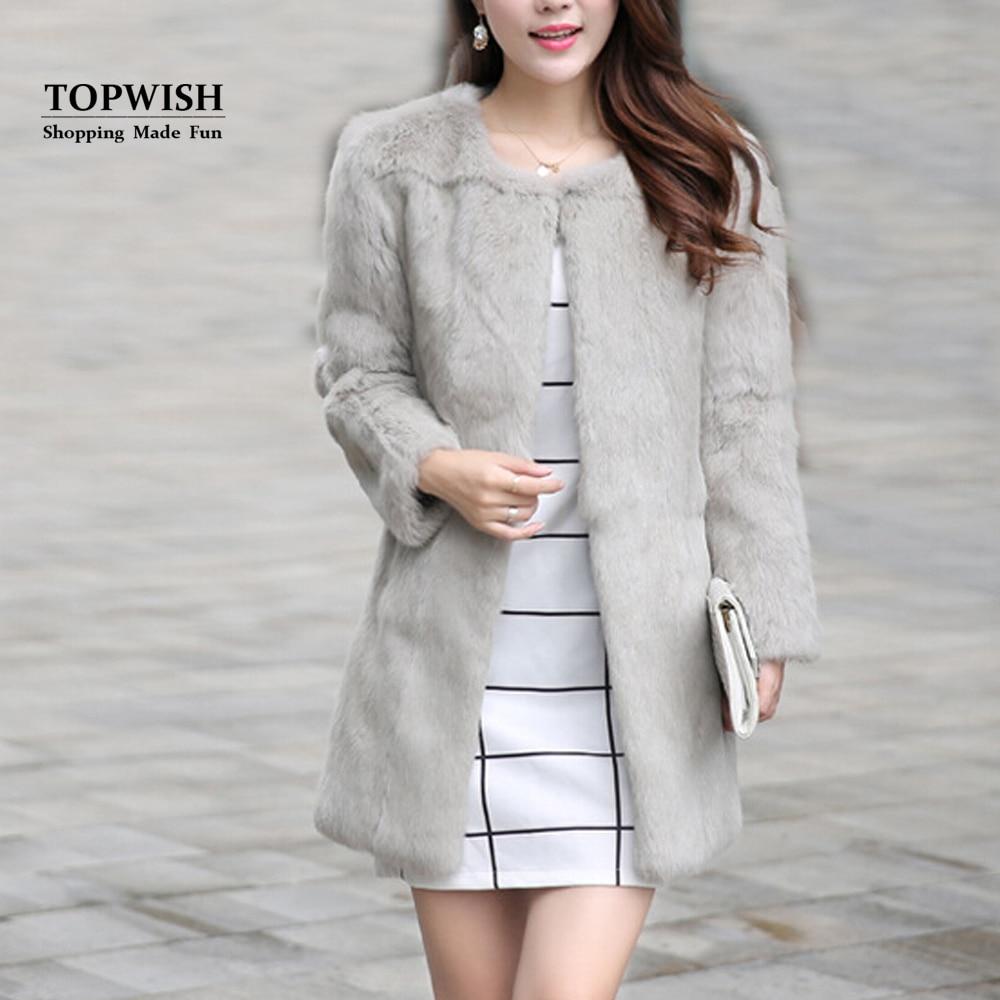 Whole Skin Real Rabbit Fur Coat Women New Fashion Full Pelt Rabbit Fur Nature Fur Jacket TFP763