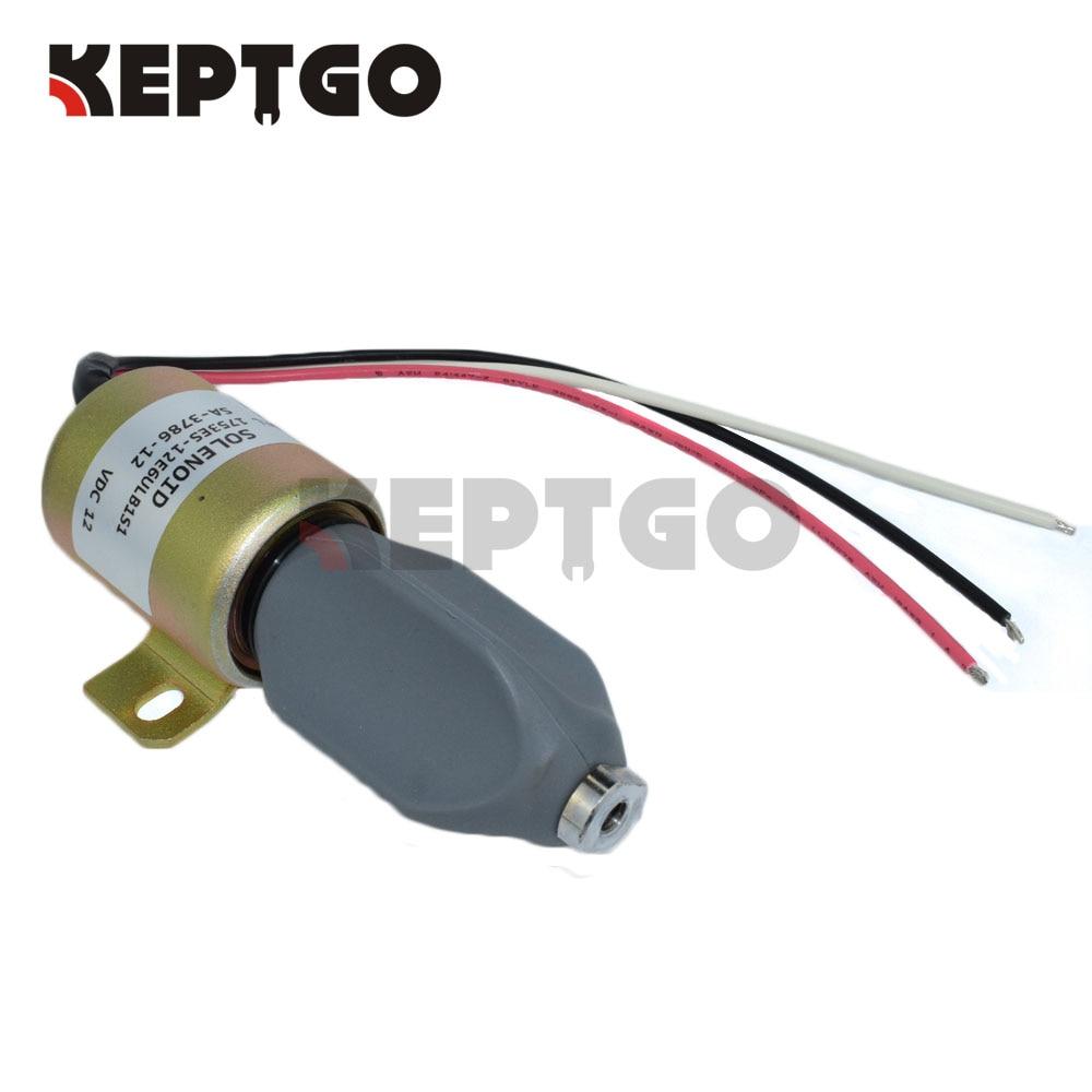 New Kubota D722 D902 Z482 Fuel Shut Off Solenoid 1756ES-24SUL5B1S5 Stop Device
