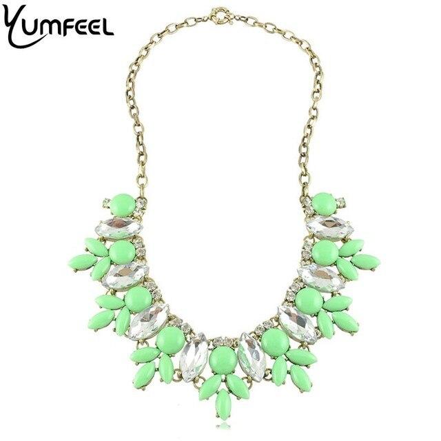 Brand  Acrylic Statement Bib Necklaces Choker Necklaces for Women Jewelry