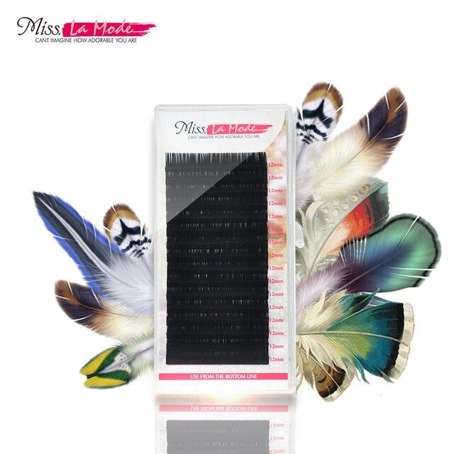 Misslamode 16 рядов отдельные ресницы расширение поставок Ложные Профессиональный норки ресницы расширения Lashes материалы