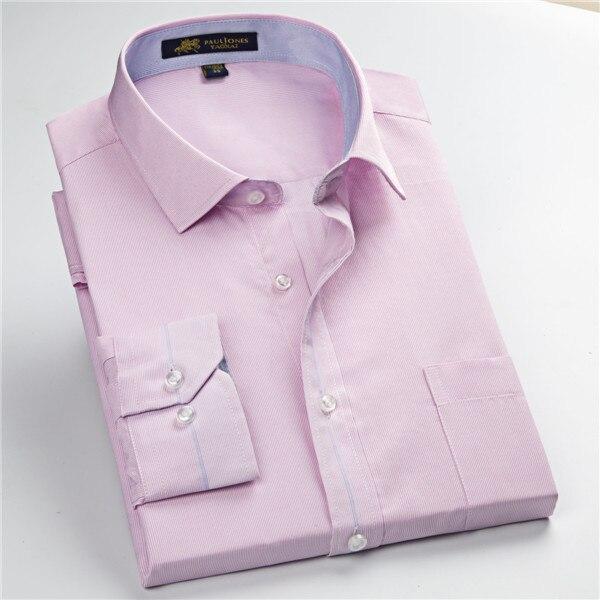 Pauljones 57xx дешевый воротник дизайн с длинными рукавами для мужчин s полосатые рубашки Повседневное платье Мужская рубашка в клетку Высококачественная Мужская одежда - Цвет: 5731