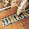 Modern Coral Velvet Kitchen Mat Breathable Water Absorbent Anti Silp Ware Fish Kitchen Carpet High Quality