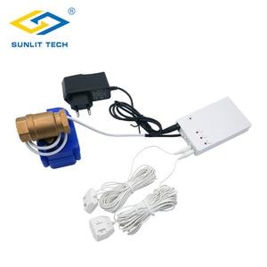 Image 1 - Hause Smart Wasser Leck Detektor mit Auto Abschaltung Ventil Wasser Flut Alarm Überlauf Leckage Sensor Für Home Security Alarm system