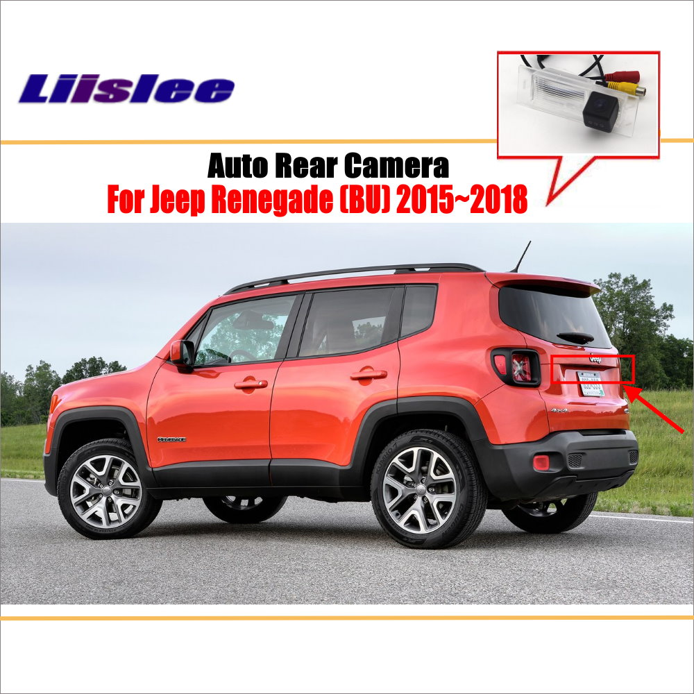 Reverse Rear Camera For Jeep Renegade (BU) 2015~2018 / Parking Back Up Camera / License Plate Lamp OEM / Night Vision|Vehicle Camera| - AliExpress