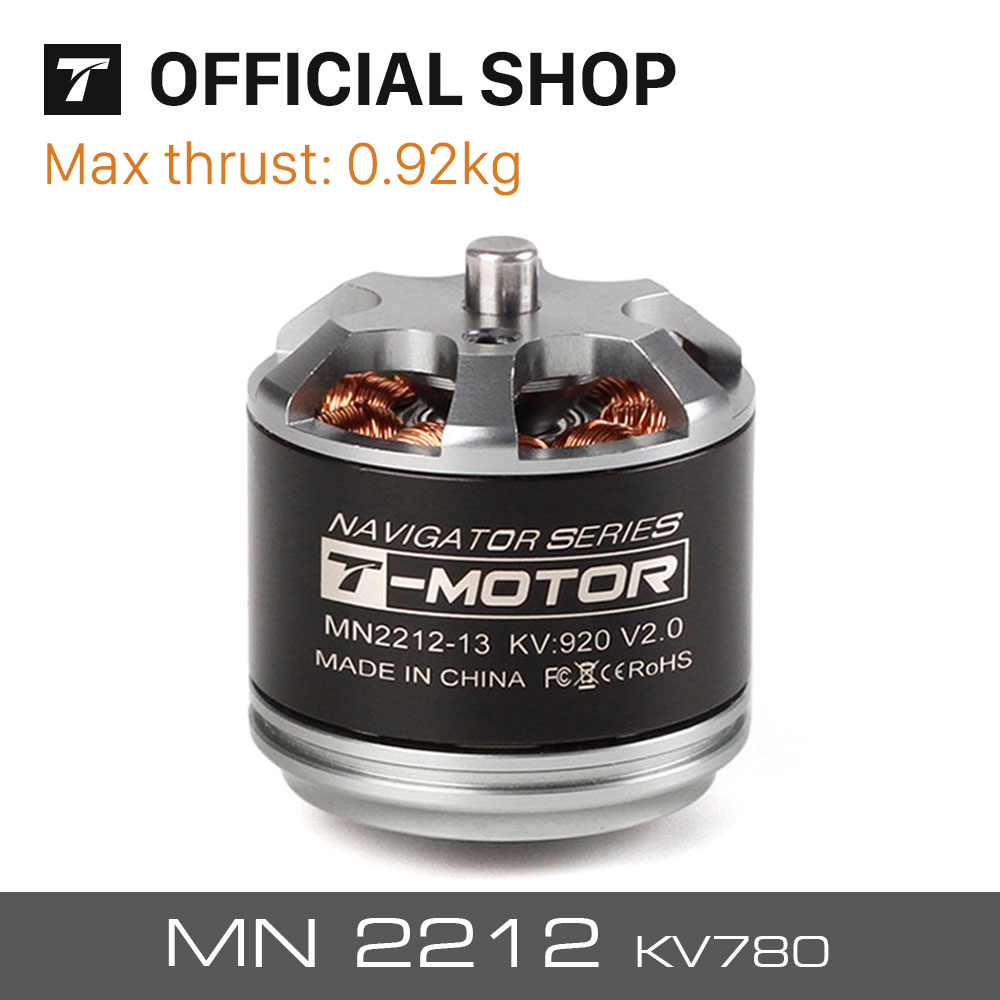 T-motor hottest sell brushless motor MN2212 KV780 more higher quality for multi-rotor copter drones