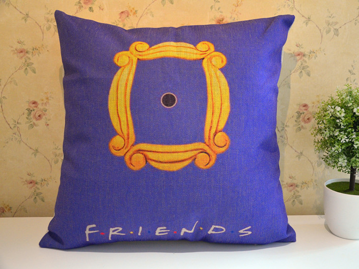 New Zippered Pillow Cushion 17x17 Inch For Friends Monica