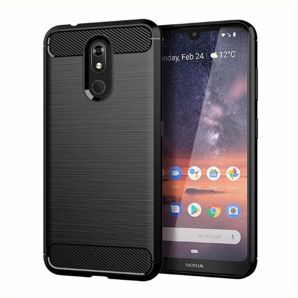 Housse en Fiber de carbone pour Nokia 3.2 coque en caoutchouc Silicone coques de téléphone pour Nokia 3.2 TA-1154 TA-1156 TA-1159 coque arrière