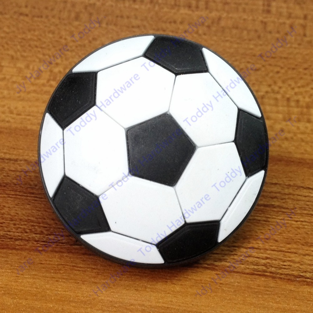 Cute football soccer soft furniture handle pull single hole knob for ...