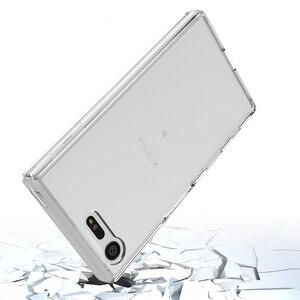 Image 2 - Mềm Silicon TPU/PC Trường Hợp Đối Với Sony Xperia X Nhỏ Gọn Fundas Coque Chống Sốc Pha Lê Rõ Ràng Vỏ Bìa Cứng Trở Lại đối với Sony F5321