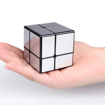 2x2x2 Magic Mirror Cube Cast Coated Puzzle Cube Professional Speed Cube 2x2 Silver Neo Cubo Magico Education Toys For Children 1