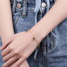 Silvology 925 Sterling Silver Black Zircon Skeleton Bracelets Creative Luxurious Elegant Leisure Female Charm Jewelry