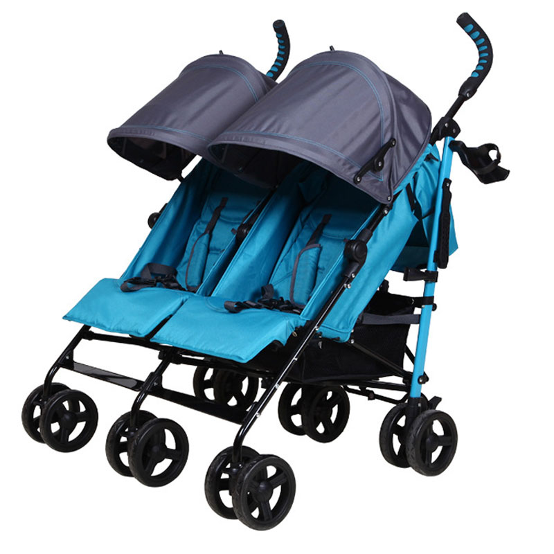 83927c3cd081 Double Baby Stroller for Twins Lightweight Portable Folding 2 In 1  Multi-function Kinderwagen 0~3Y