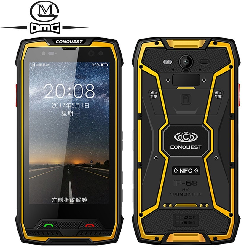 Conquest S11 <font><b>7000mAh</b></font> 6GB RAM 128GB ROM IP68 Shockproof 4G <font><b>Smartphone</b></font> NFC OTG cell phones Android 7.0 Rugged 5.0