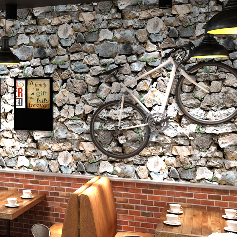 3D Stereo Retro Brick PVC Vinyl Wallpaper Hotel Clothing Store KTV Bar Stone Wallpaper Modern Waterproof Papel De Parede 3D Sala modern vintage pvc 3d stone brick printing style vinyl waterproof pattern wallpaper wall paper roll papel de parede 10m