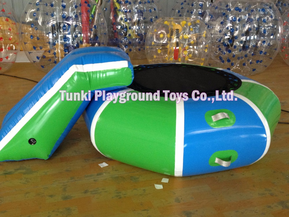 2m inflatable water jumper; children jumping trampoline, aqua bouncer(with slide)