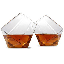 2pcs Unique Diamond Shaped Tumblers For Whiskey Lovers