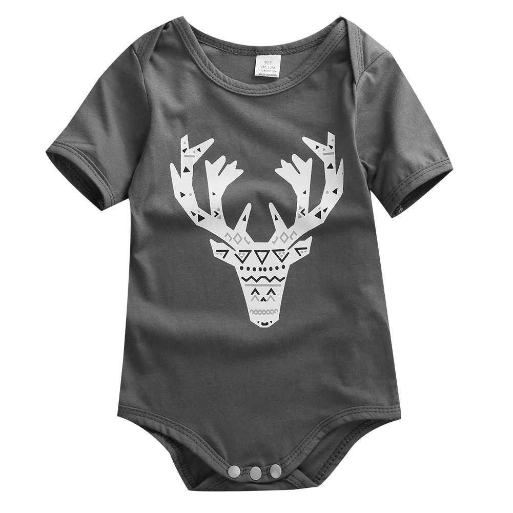 fb959f7e7 Newborn Baby Cute Deer Onesie bodysuit jumpsuit Pyjamas Outfit Infant  Toddler Boy Clothing One-pieces