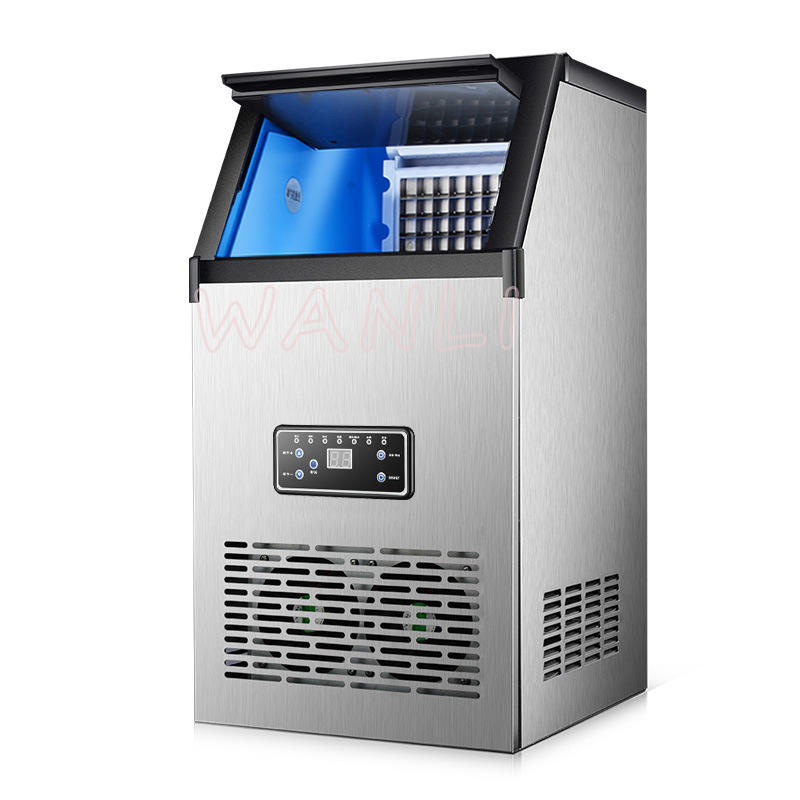 40KG/60KG/80KG Ice Maker Commercial Cube Ice Machine Automatic /home Ice Machine / For Bar / Coffee Shop / Tea Shop