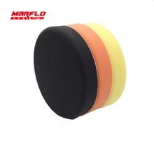 Marflo 180mm Polishing Sponge Pad Buff Polishing Pad For Car Polisher Dual Action Pad Sponge Fine Medium Heavy Cutting Power