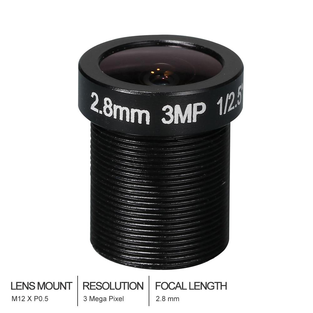 Witrue HD CCTV Lens 3MP 2.8MM M12*0.5 Mount 1/2.5 F1.8 92 degree for Security CCTV Cameras witrue 1 3megapixel 25mm cctv lens m12 mount aperture f2 0 for security cctv camera