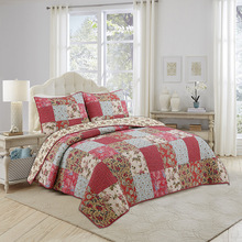 Quality Bedspreads Quilt Set 3pcs Coverlet Patchwork Cotton Quilts Quilted Bed Cover King Queen Size Summer Blanket On Bed chausub cotton bedspreads quilt set 3pcs embroidered quilts advanced quilted bed cover pillowcase king queen size coverlet