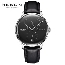 Nesun Mens watches top brand luxury Automatic Mechanical Watch Casual leather sapphire Waterproof Relogio Masculi Wristwatch Men