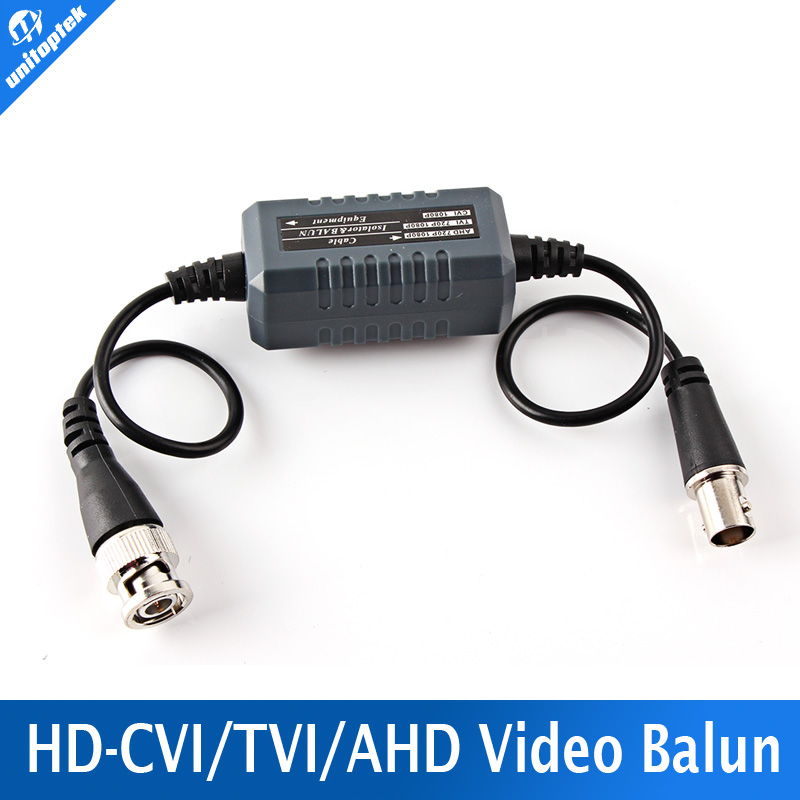 1Pcs HD Coaxial Ground Loop Isolator Video Balun BNC Male to Female For Analog HD CCTV Camera AHD/TVI/CVI 100x cat5 video bnc male balun connector coaxial coupler for cctv camera