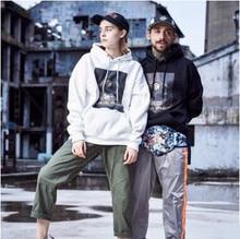 New Autumn and Winter Cotton Warm Hat Ptinted Hoodies Men Women Fashion Outerwear Slim Couples Clothing Thicken Sweatshirts