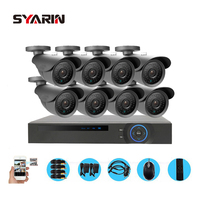 Home Protection 8 Channel Full AHD 1080P DVR 2500TVL 8pc 1080P 2 0MP Outdoor Security HD