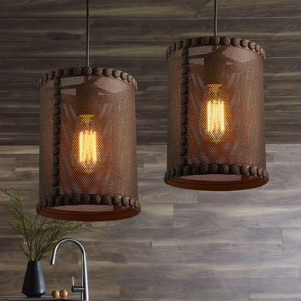 Retro Loft Style Creative Iron Net Edison Pendant Light Fixtures Vintage Industrial Lighting For Dining Room Bar Hanging Lamp american edison loft style rope retro pendant light fixtures for dining room iron hanging lamp vintage industrial lighting page 3