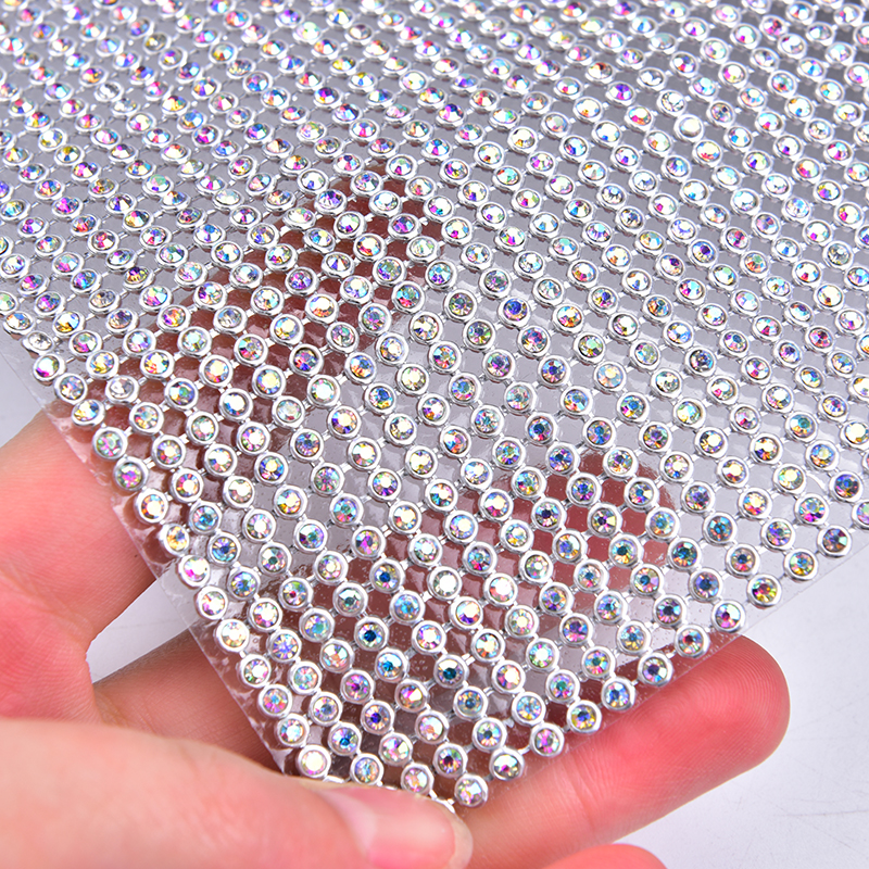 Factory Directly Sale! 24Row Hotfix Clear Rhinestone Cover/skin Cloth Appliques 120cmX7.6cmfor Handmade Diy Sewing Accessories