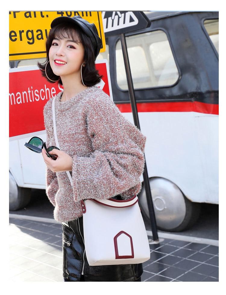 Luxury Brand Tote Bag Contrast Color PU Leather Shoulder Bag Famous Designer Women Handbags Small Square Bags 5