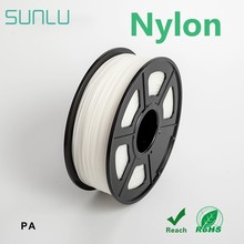Нить для 3D-принтера PA нейлон SUNLU прозрачный белый нейлон 3d FilamentFor 3D-принтер превосходный гладкий материал 3,0 мм 1 кг