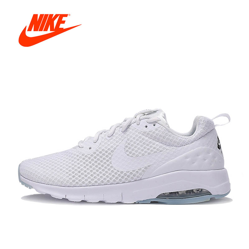 Authentic NIKE Breathable AIR MAX MOTION LW Men's Running Shoes Sneakers White Blue nike original air max mens sneakers running shoes breathable sneakers shoes outdoor 819300 102