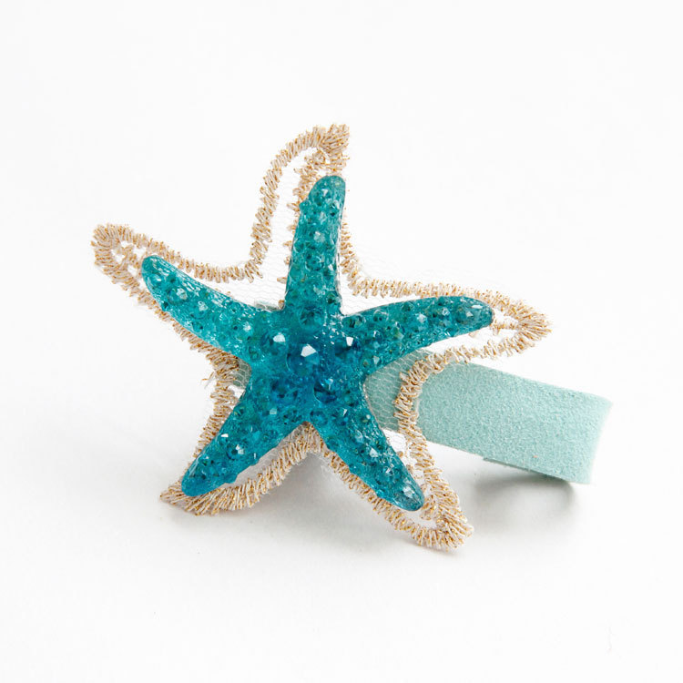 Cartoon Blue Starfish Kids Hair Clips Children Headwear Girls Hair Accessories Baby Hairpins Princess Barrette baby cute style children accessories hairpins rabbit fur ear kids girls barrette lovely hair clip