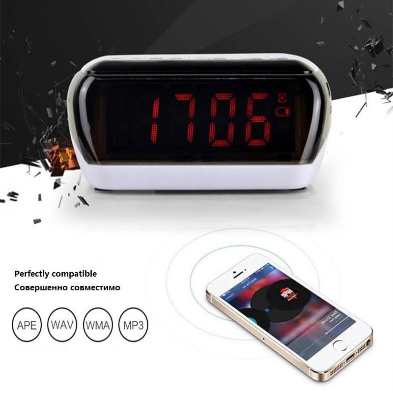 Mini Portable Dual Alarm Clock Bluetooth Stereo Speaker LCD Digital FM Radio Bluetooth Wireless Speaker Support TF For Computer (13)
