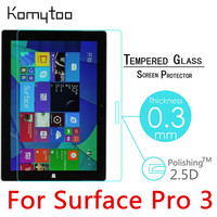 Pro3 9H 0 3mm Toughened Tempered Glass Film For Microsoft Surface Pro 3 12 Tablet PC