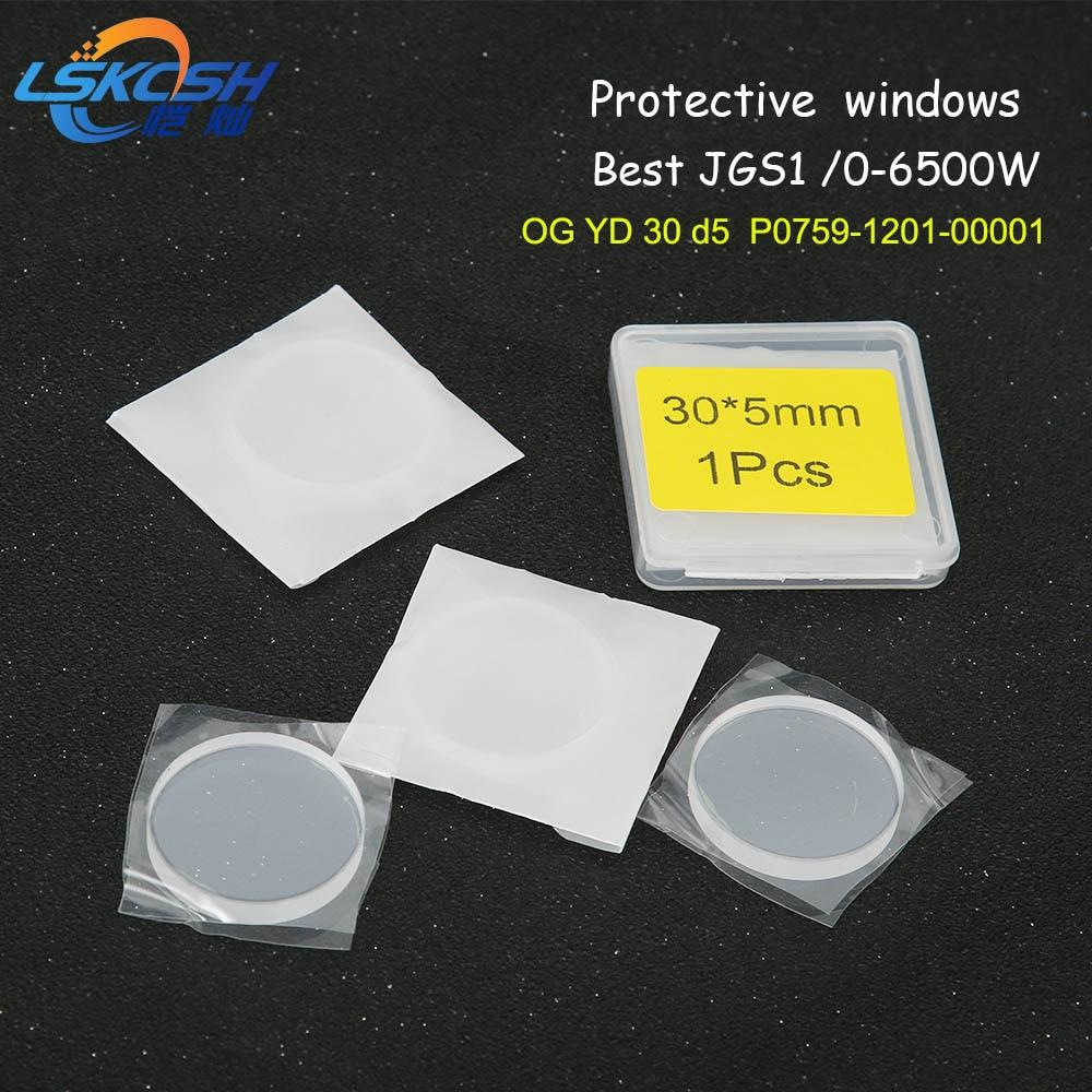 LSKCSH best quality precitec protection lens 30*5mm OG YD30 d5 for fiber laser P0795-1201-00001 Rofin Favon Laser mag 0-6500W