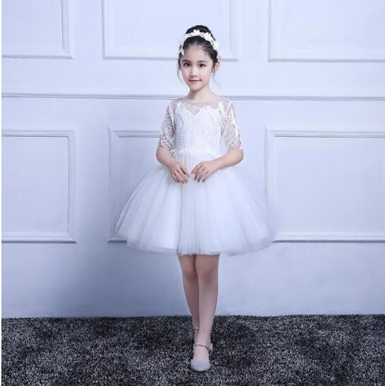 White Lace Dress Flower Girl Dresses for Wedding First Communion Occasion Gown Kids Dresses Custom Made Any Size цены