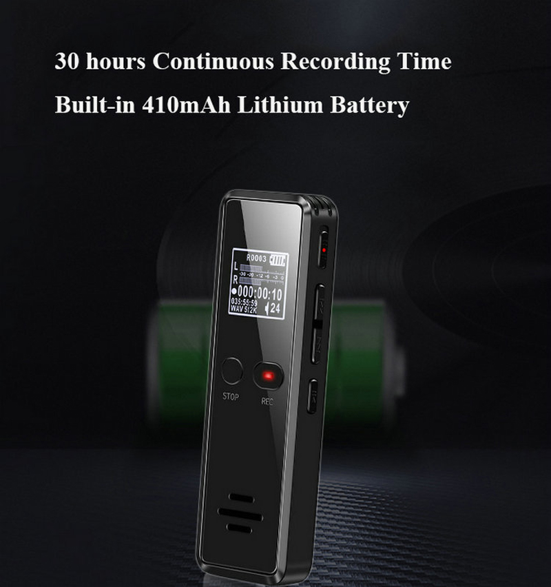 Volemer V90 Digital Voice Activated Recorder Dictaphone Long Distance Audio Recording Mp3 Player Noise Reduction Wav Recording (5)