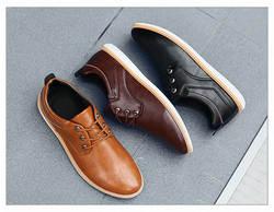 Новая Мужская обувь Повседневная дышащая обувь на шнуровке мужская кожаная обувь деловые туфли строгого стиля оксфорды Мужской Размер 40-45