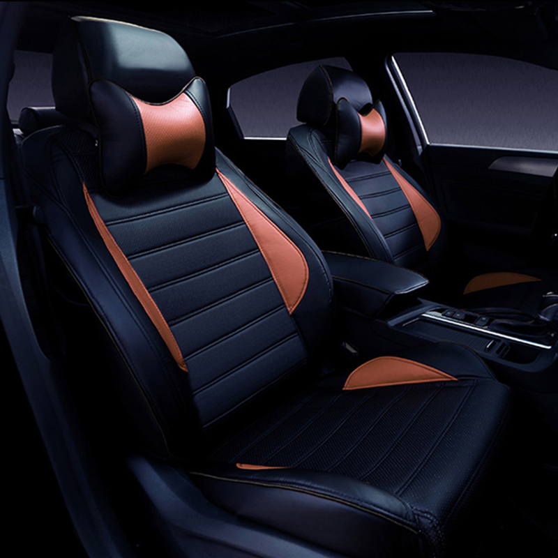 Custom Leather car seat covers For Nissan Qashqai Note Murano March Teana Tiida Almera X-trai juke car accessories styling все цены